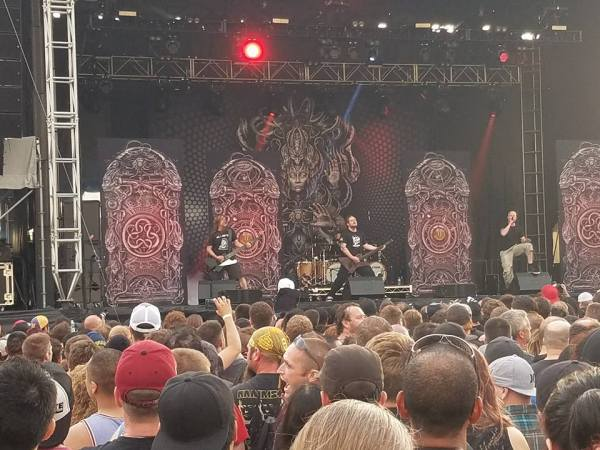 Meshuggah performs live at Chicago Open Air 2016 Day 1 at Toyota Park in Bridgeview, IL.