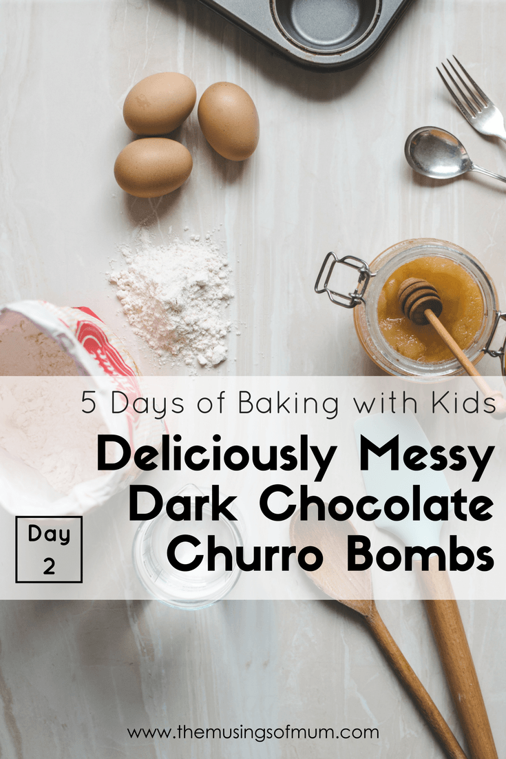 Deliciously Messy Dark Chocolate Churro Bombs
