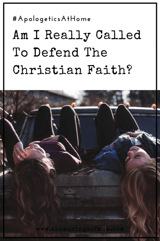 Am I really called to defend the Christian faith? Turn on the news or log-on to any social media outlet and your faith will be under attack immediately.