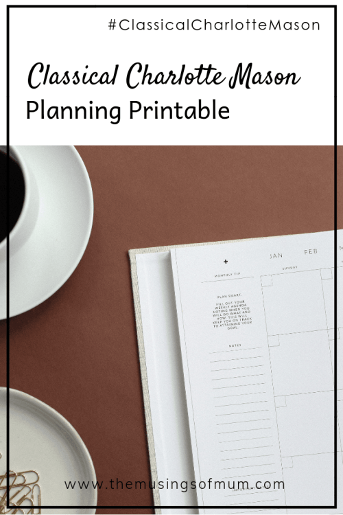 Yearly Classical Charlotte Mason Planning Printable