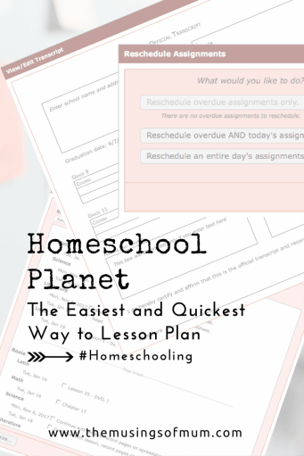 Homeschool Planet, The Easiest and Quickest Way to Lesson Plan