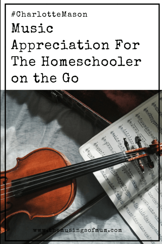 "Music Appreciation For The Homeschooler on the Go - Sound Bites, is saving me time, AND the blank stares I gave my girls every Monday when they asked ""so what do you have for music appreciation this week?""."