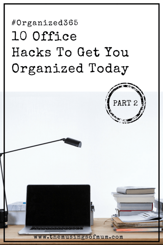 0 Office Hacks To Get Your Organized Today Part 2 - We are finally ready to tackle the home office, also known as the paper-clutter capital of the world. I'm splitting this month's challenge into 3 posts, because we have a great deal to cover. Here are the first 3 of 10 office hacks to get you organized today.