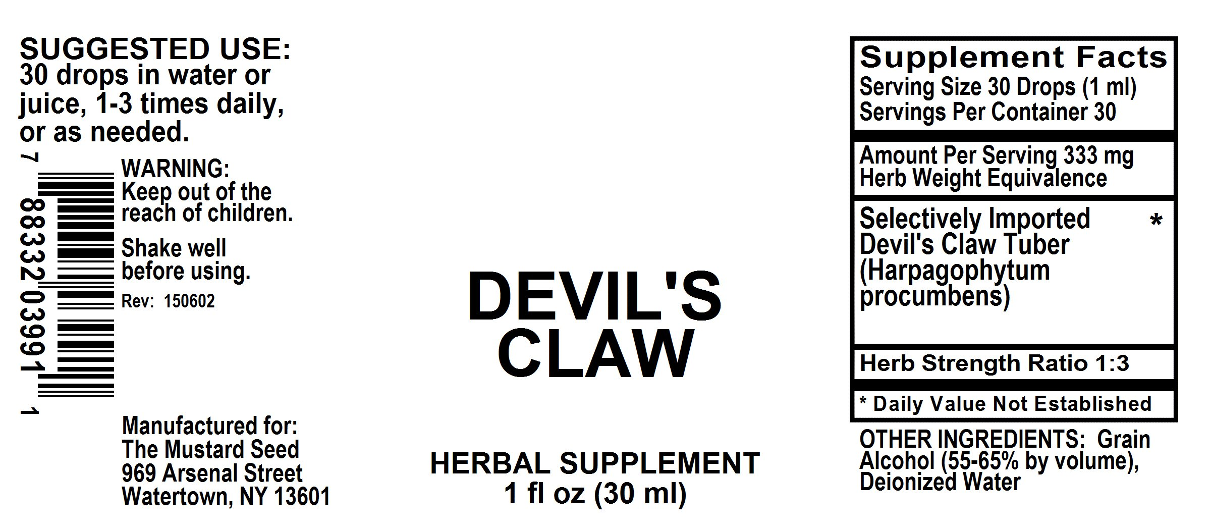Devil's Claw - The Mustard Seed