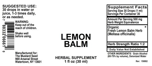 4006661 Lemon Balm Liquid Extract