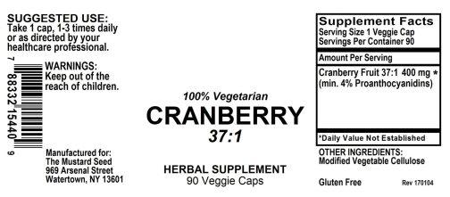 4015440 Cranberry Powder Capsules