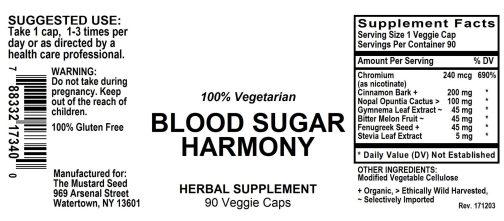 4017340 Blood Sugar Harmony Powder Capsule
