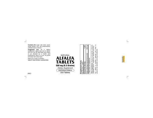 Alfalfa Tabs 250ct 1