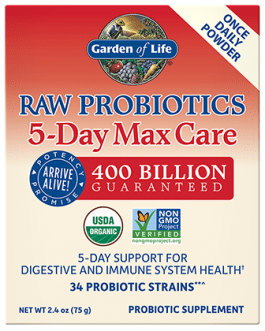 Garden of Life Raw Probiotics 5-Day Max Care Powder