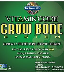 Garden of Life Vitamin Code Grow Bone System