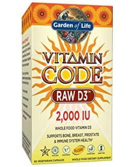Garden of Life Vitamin Code Raw D3 2,000 IU