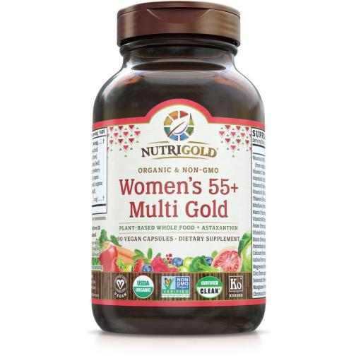 Womens 55 Multi Gold Front