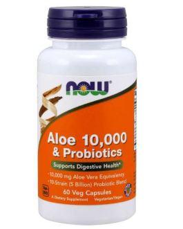 Now Aloe 10,000 & Probiotics