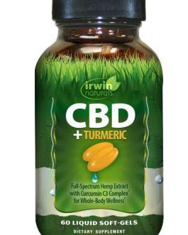 Irwin Naturals CBD Oil + Turmeric