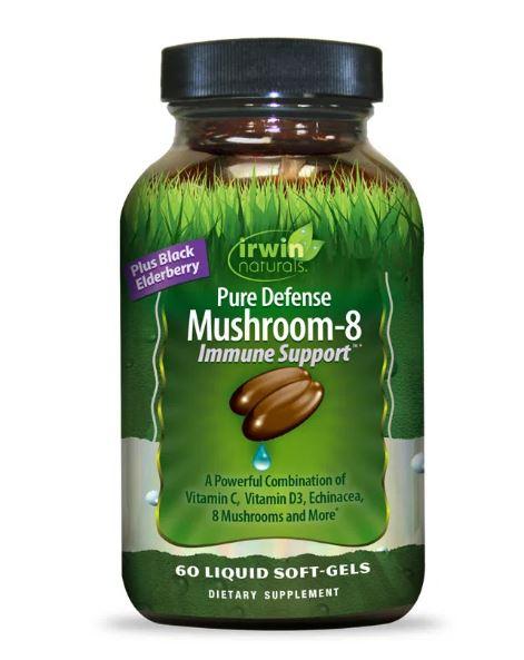 Irwin Naturals Pure Defense Mushroom 8 bottle