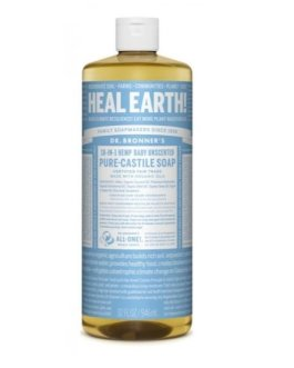 Dr. Bronner's Baby Unscented Castile Liquid Soap (32oz)