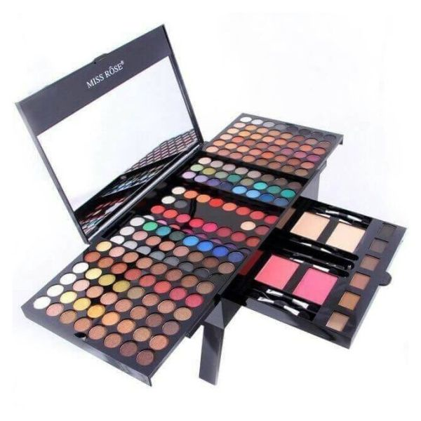 Miss Rose Cosmetic 190 Colors Makeup Palette Eyeshadow Eyebrow Blusher Powders Pro Make Up Set Matte Nude Shimmer Eye Shadow