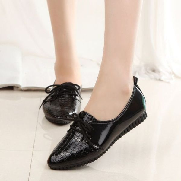 Neworldline Women Four Seasons Fashion Single Shoes Casual Comfort Shoes Flat Shoes-Black