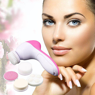 Generic 5 In 1 Multifunction Electric Face Facial Cleansing Brush Spa Skin Care Massage