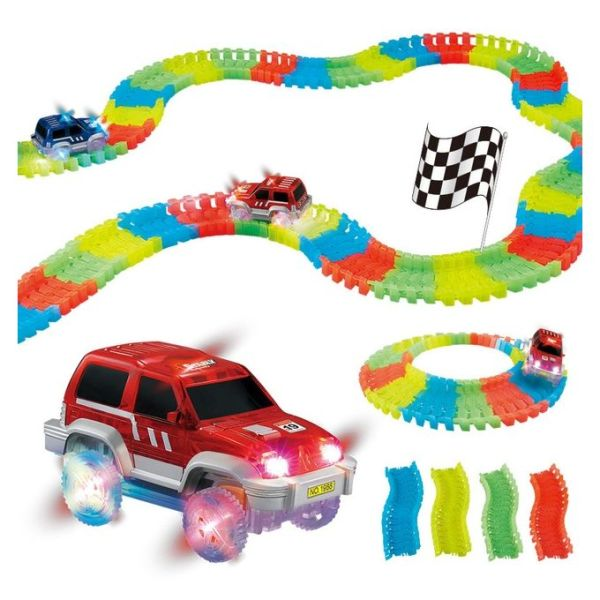 Generic Children S Magic Tracks Led Racing Car Assembly Toy 220pcs