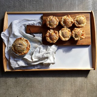 Pumpkin, Mushroom and Pine Nut Mini Pies