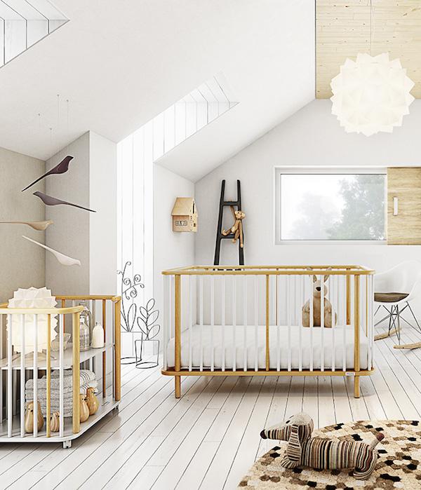 Micuna Crib - Nursery Inspiration - Modern Nursery