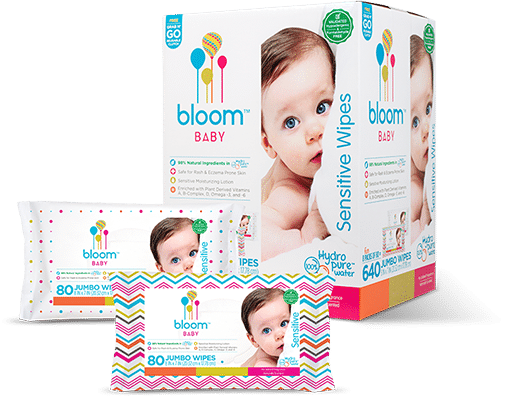 bloom Baby wipes variety of packaging