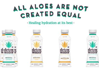 detox water aloe drink