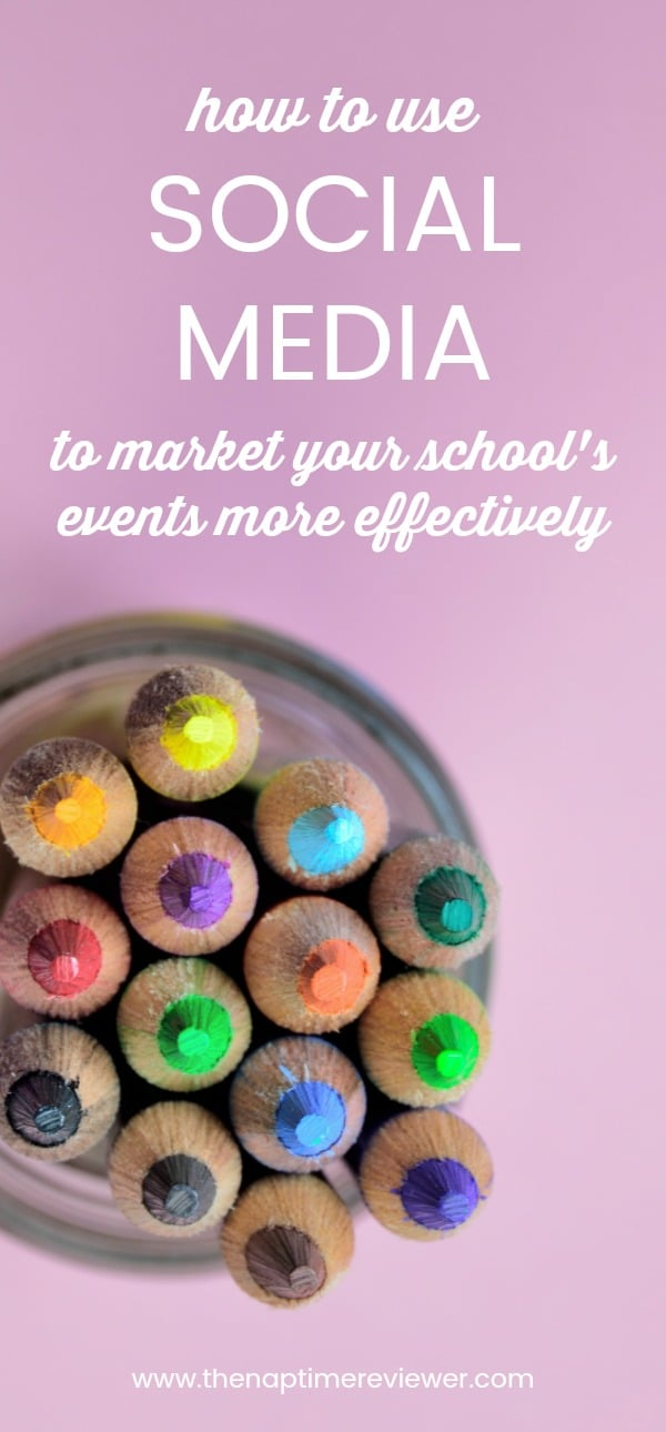 How to use social media to marketing your school's events more effectively.