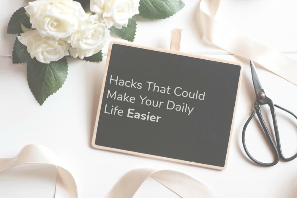 Daily Hacks chalkboard