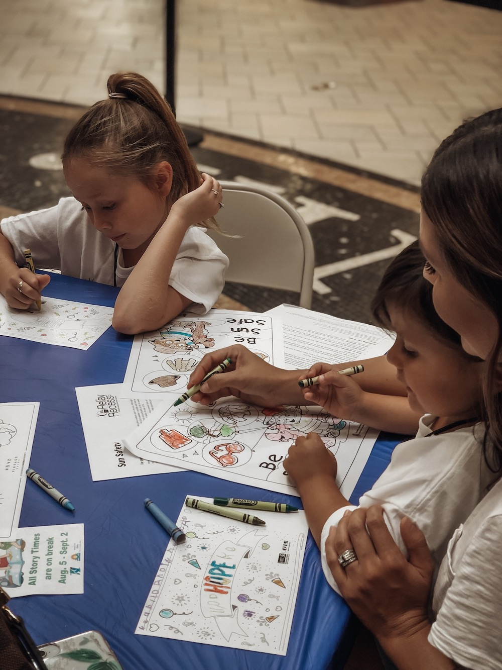 Kids Club activities at Vintage Faire Mall