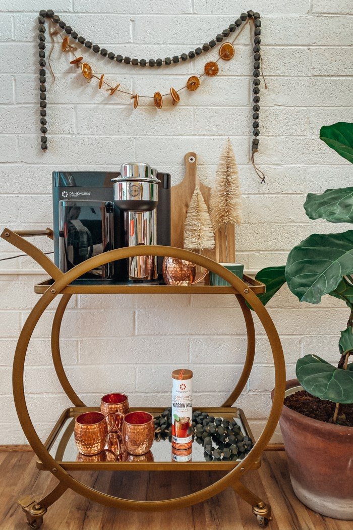 How to Create a Festive Bar Cart with Drinkworks® Home Bar by Keurig® (+Promo Code)