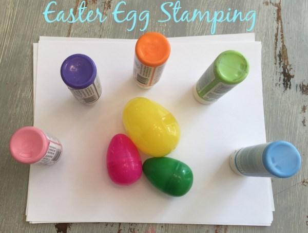 Easy Easter Egg Stamping