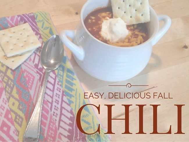 Easy, Delicious Fall Chili