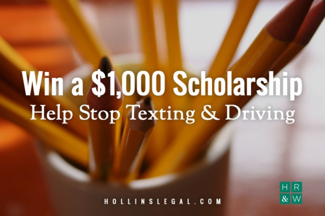 Win a $1,000 scholarship to help stop texting and driving