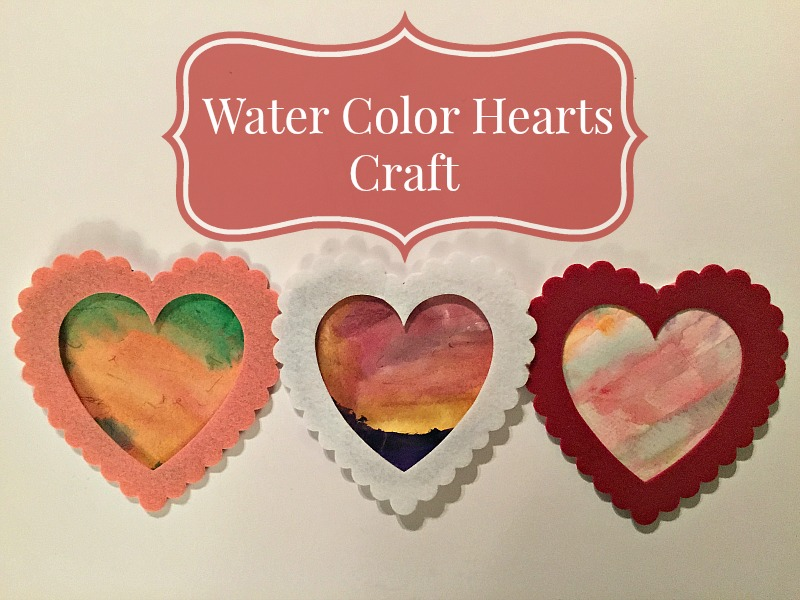 Water Color Hearts Craft