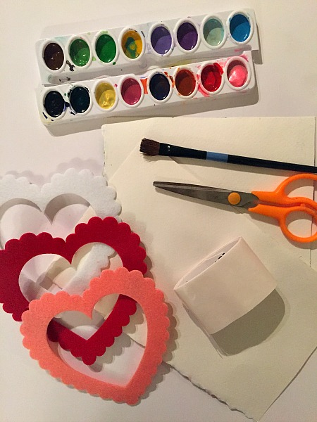 water color heart craft