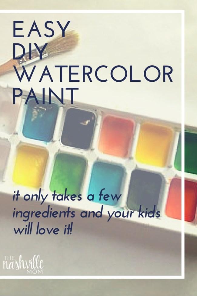 Easy DIY Watercolor Paint