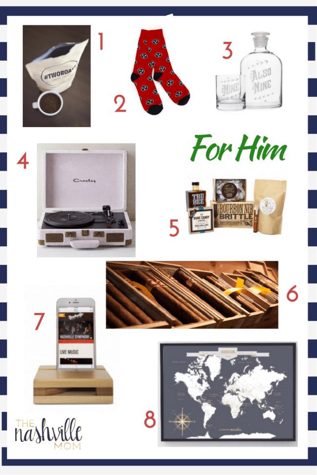 Nashville Holiday Gifts for him