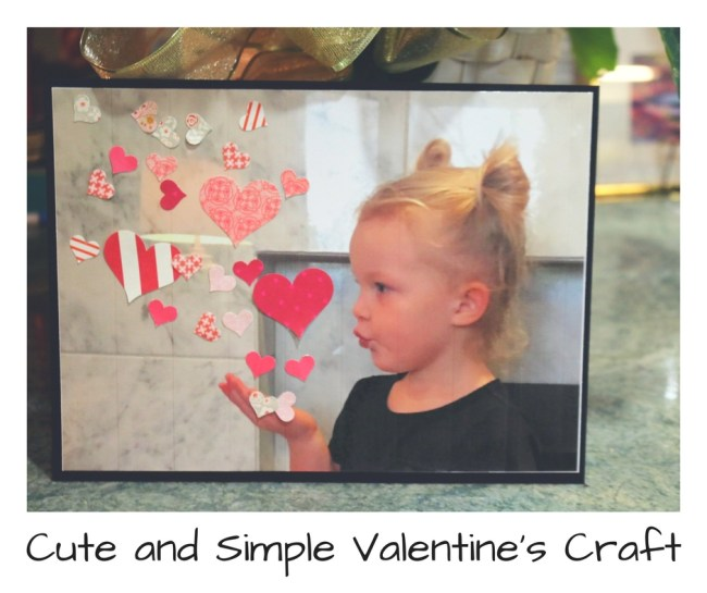 Cute and Simple Valentine's Craft finished