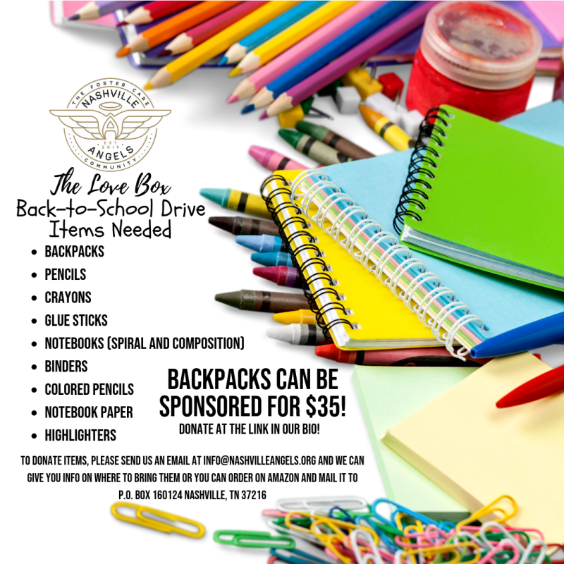 The Love Box Back-to-School Drive