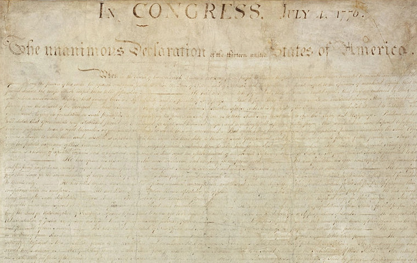 July 4 The Declaration Of Independence Is Published