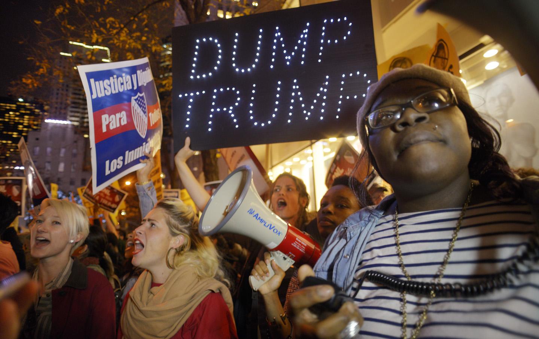 Trump SNL Protest