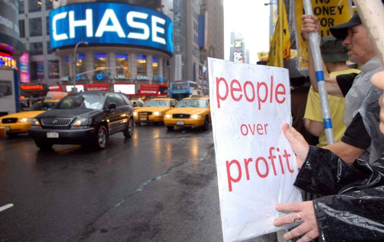 Protest outside Chase