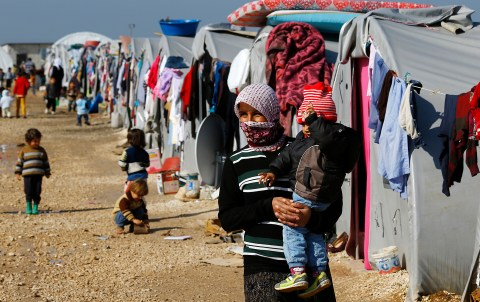 Kurdish refugees from Kobani
