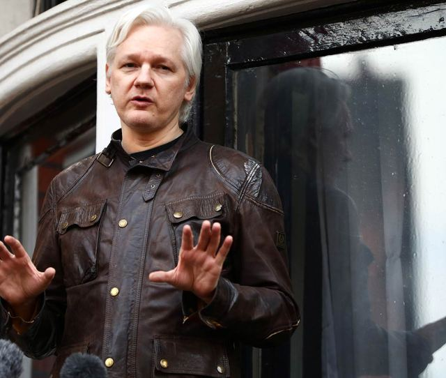 Wikileaks Founder Julian Assange On The Balcony Of The Ecuadorian Embassy In London On May 19 2017 Reuters Neil Hall