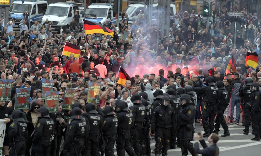 The National: An Alternative for Germany (AfD) march
