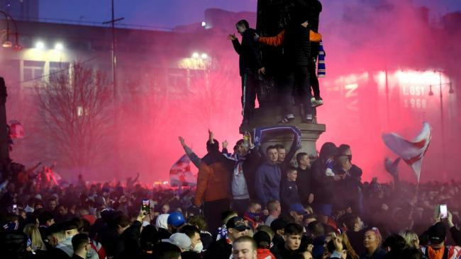 The National: Rangers fans in George Square