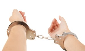 girl handcuff arrest