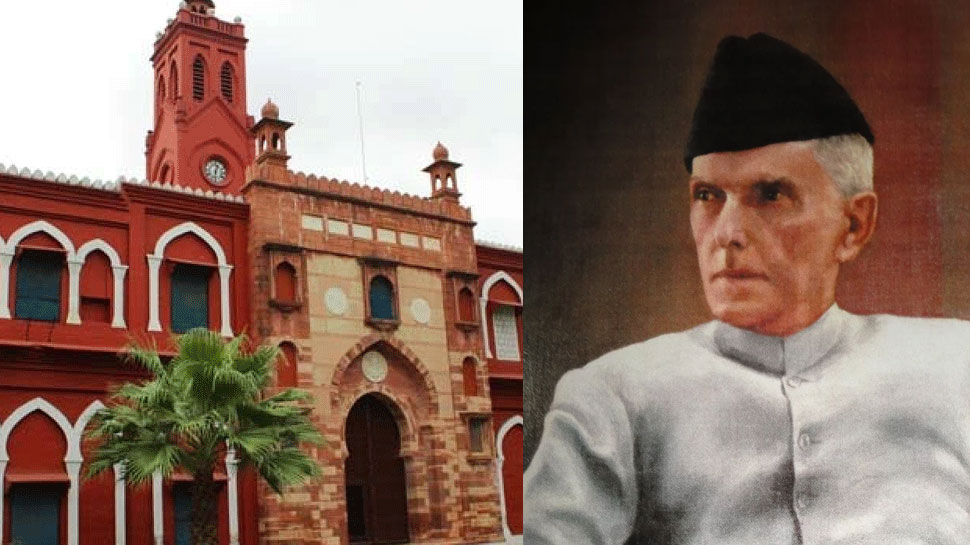 jinnah potrait in AMU